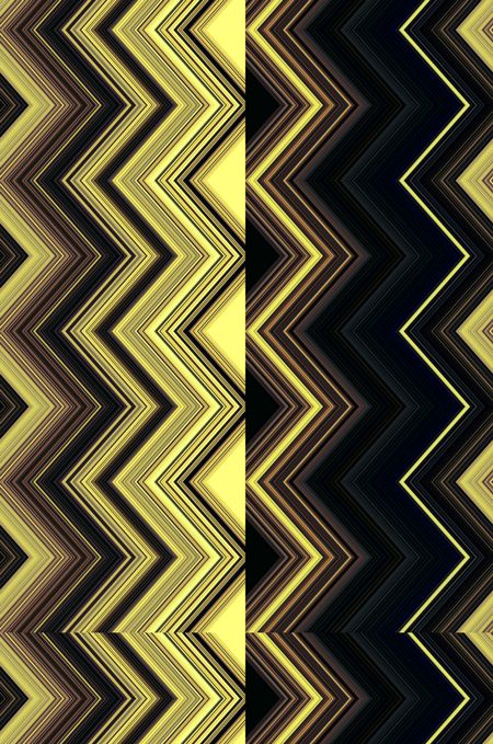 Split half-and-half geometric zigzag pattern for decoration and background with motifs of dichotomy, variation, or alternate reality