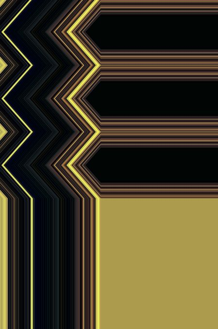 Geometric abstract with zigzags contiguous with copy space composed of three horizontal arrows above a blank tan corner for strong graphic background