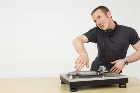 Spinning DJ