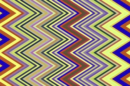 Bold zigzag pattern for decoration and background with motifs of angularity and repetition