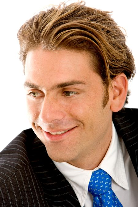 Portrait of a business man isolated over a white background