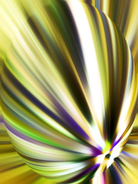 Bright multicolored abstract flower created with radial blur