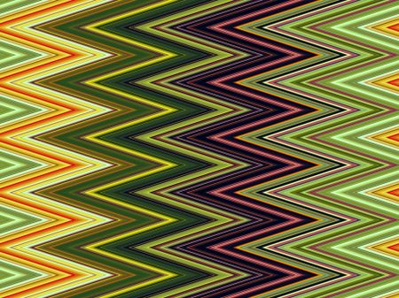 Varicolored pattern of zigzags for decoration and background with motifs of repetition or angularity