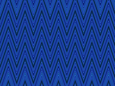 Abstract illustration of zigzag symmetry with predominance of blue