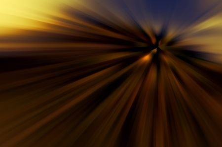 Dusky abstract with radial blur