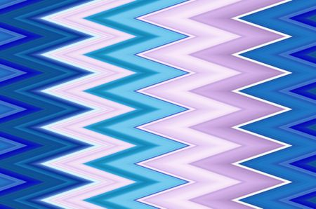 Snazzy geometric pattern of zigzags with cool tones for motifs of angularity, alternation, synergy