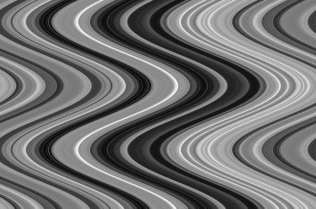 Abstract pattern of wavy symmetry in black and white that illustrates fluidity and changeability