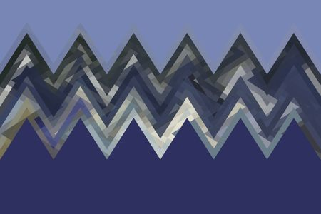 Geometric multicolored zigzag abstract of ocean waves. for themes of complexity, ecology, the environment