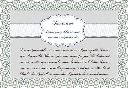 Green invitation template