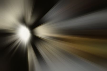 Radial blur of a mysterious source of light beams such as stellar formation or explosion