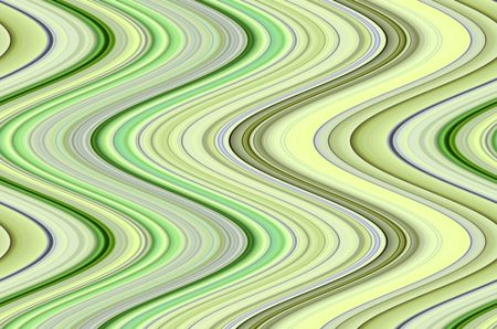Bright abstract synergistic pattern of contiguous S-curves with pastel greens, for themes of fluidity, alternation, simultaneity