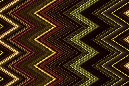 Abstract varicolored pattern of zigzags for geometric motifs in decoration and background