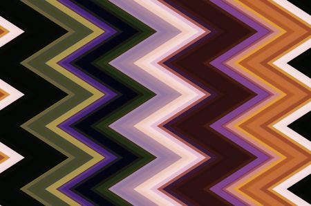 Multicolored pattern of zigzags for background and decoration with motifs of angularity, conformity, variation