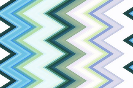 Varicolored pattern of mostly pastel zigzags for themes of repetition, conformity, or variation in decoration and background