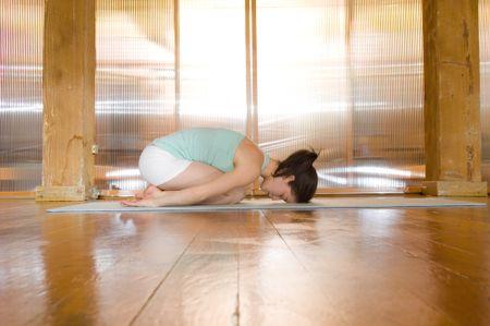 Child's pose, yoga