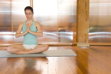 Yoga prayer with space for copy