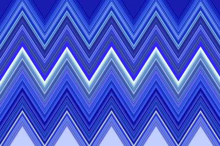 Decorative pattern of zigzags with icy blue motif
