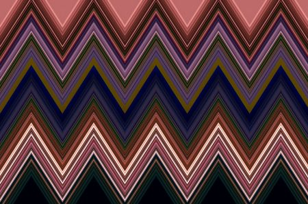 Darkly decorative zigzag pattern that illustrates repetition, conformity, recurrence and variation