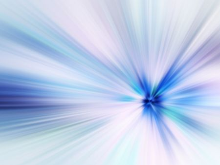 Abstract illustration of radially blurred starburst for decoration and background with motif of origin, convergence or otherworldly phenomena