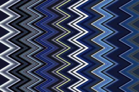 Decorative multicolored zigzag pattern that illustrates repetition, conformity, recurrence and variation
