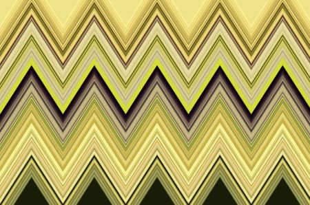 Varicolored geometric pattern of zigzags for decoration and backgrounds with themes of recurrence, predictability, variation