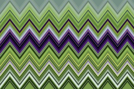 Geometric varicolored pattern of zigzags for decoration or background with motifs of repetition, conformity, synergy