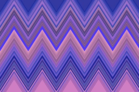 Geometric pattern of zigzags with shades of pink and blue for decoration or background with themes of repetition, regularity, synergy