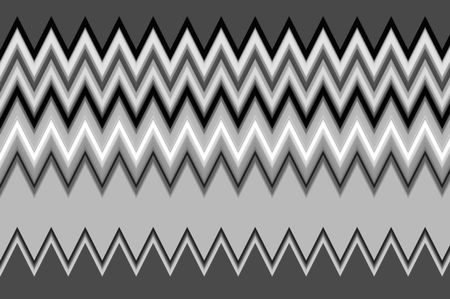 Abstract zigzag pattern in black and white for decoration or background with themes of repetition or variation