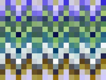 Decorative multicolored mosaic abstract
