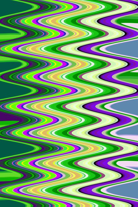 Multicolored abstract of synergistic waves for themes of fluidity and alternation in decoration and background