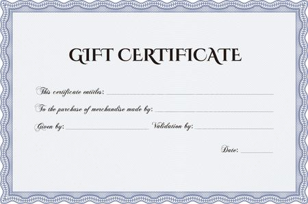 Vector Gift Certificate template. Complex background. Customizable ...