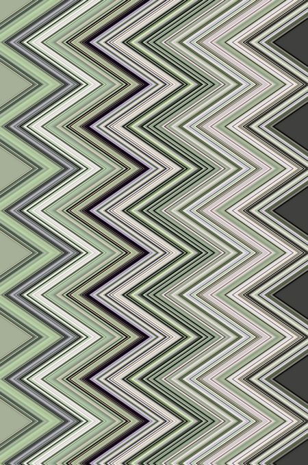 Varicolored abstract of contiguous zigzags for decoration and background