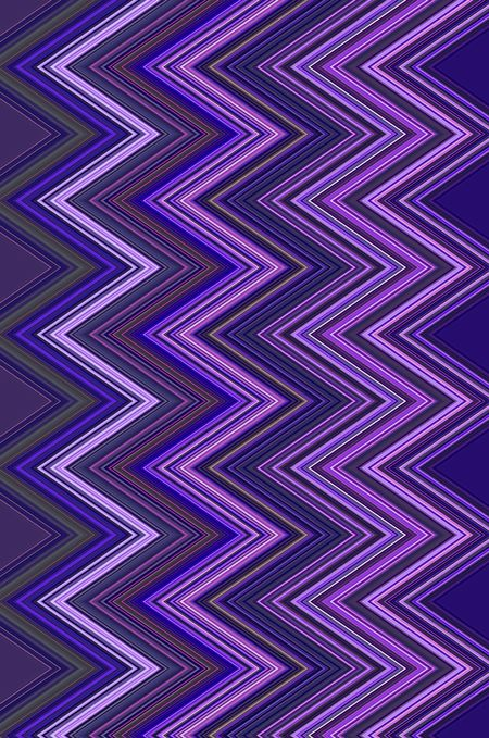 Geometric pattern of many zigzags with much violet for themes of synergy, recurrence, or alternation in decoration and background