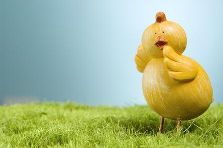 Worried easter chicken.