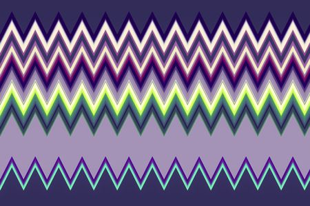 Geometric varicolored abstract of zigzag stripes for decoration and background with themes of repetition, variation, synergy