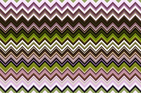Multicolored geometric abstract pattern of horizontal zigzags with accordion effect for background and decoration with motifs of repetition, variation, synergy