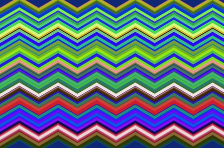 Multicolored geometric pattern of zigzags with accordion effect for decoration and background