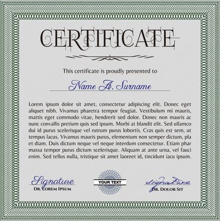 Sample certificate or diploma  Sophisticated design  Printer