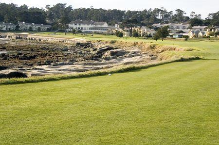 Coastal inlet along eighteenth hole of golf course