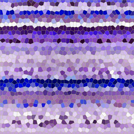 Mosaic abstract of contiguous polygons, many blue and others slightly desaturated violet, with effect of stained glass, for decoration and background