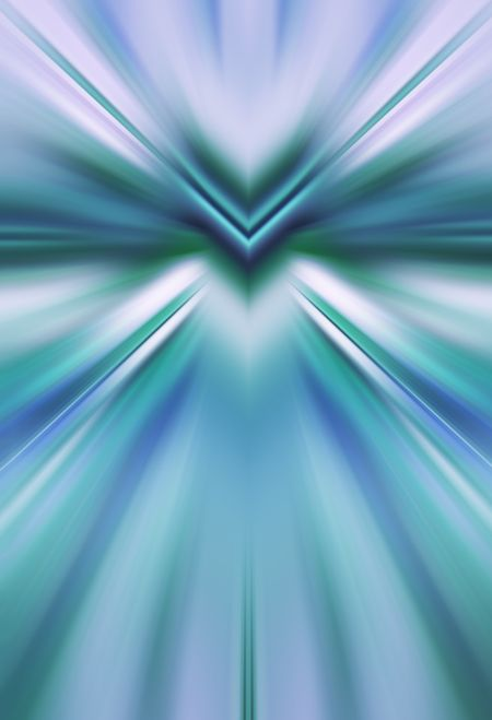 Abstract radial blur with predominance of blue and green