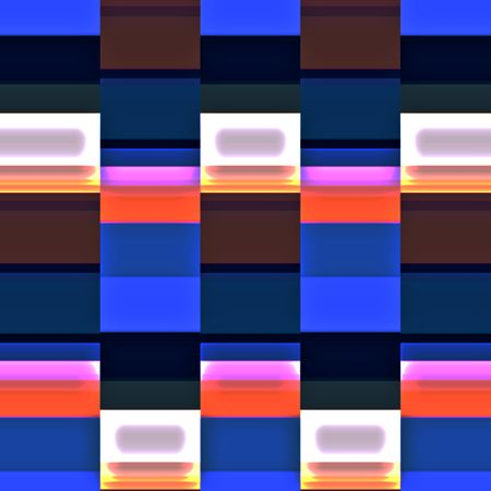 Parti-colored abstract of rows and columns of rectangles for decoration and background