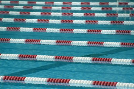 Lane ropes in outdoor swimming pool | Freestock photos