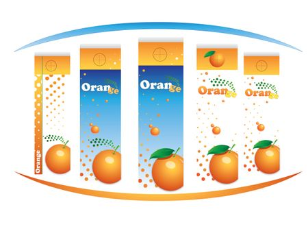 Cartons of orange juice isolated over white