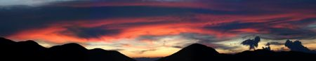 huge sunsetover the andes - panomaric photo 6213 x 1200