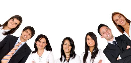 Business group siolated over a white background