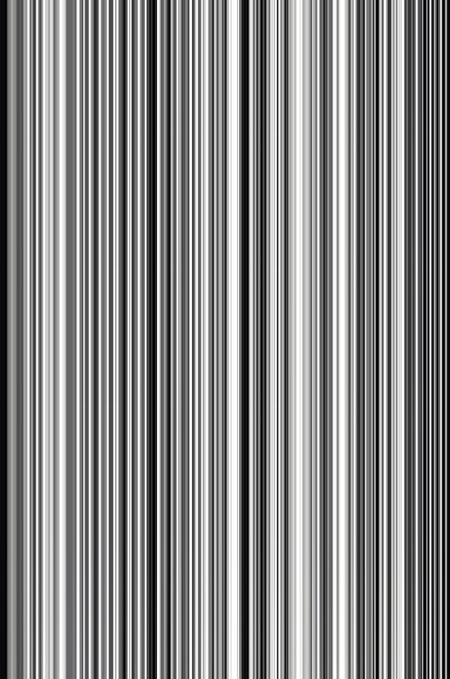 Abstract of parallel thin vertical stripes, in black and white, for themes of variation and synergy in decoration and background