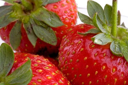 Close up of fresh strawberries