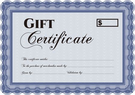 Vector Gift Certificate template. Cordial design. With great ...