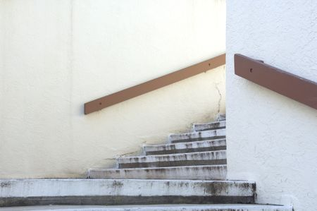 Mysterious stairway out of doors